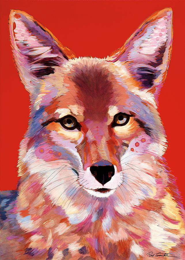 Coyote Painting Painting - Lady In Red by Bob Coonts