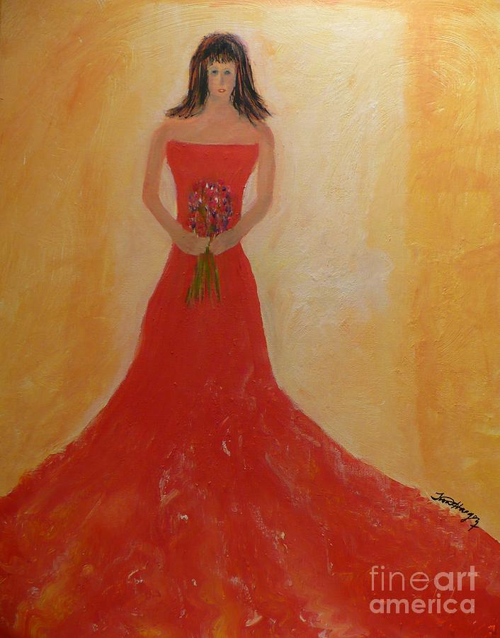 lady in the red dress painting by tina haeger. Black Bedroom Furniture Sets. Home Design Ideas