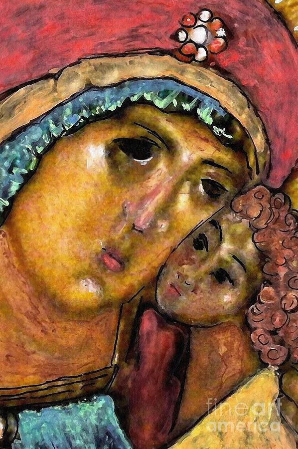 Virgin Mary Painting - Lady Joy by Sarah Loft