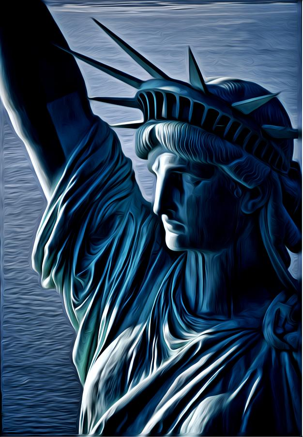 Statue Of Liberty Digital Art - Lady Liberty by Kevin  Sherf
