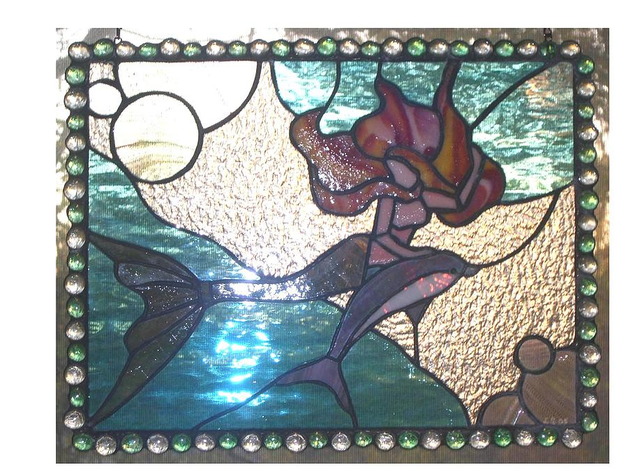 Lady Of The Sea Glass Art