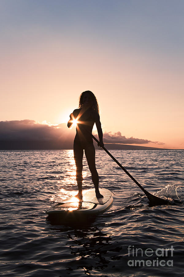 Activity Photograph - Lady Paddling by Dave Fleetham - Printscapes