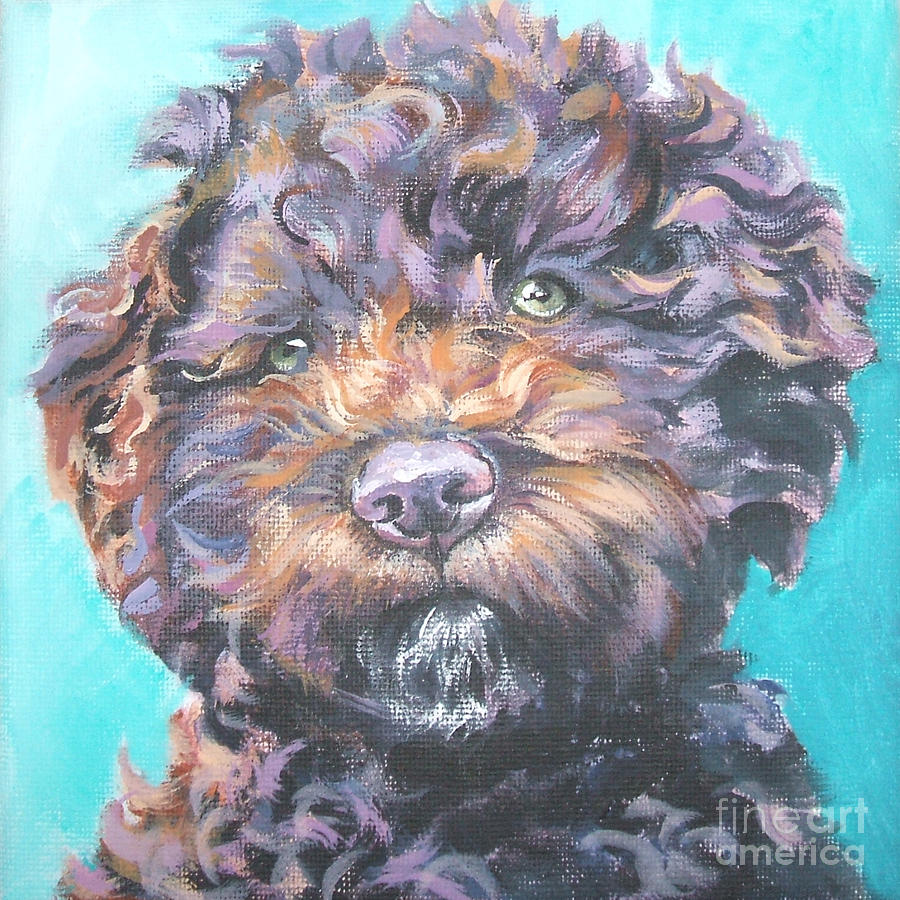 Lagotto Romagnolo Painting - Lagotto Romagnolo by Lee Ann Shepard