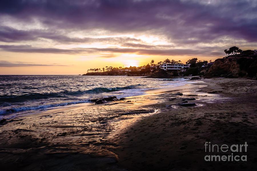 Laguna Beach California Sunset Photo Photograph