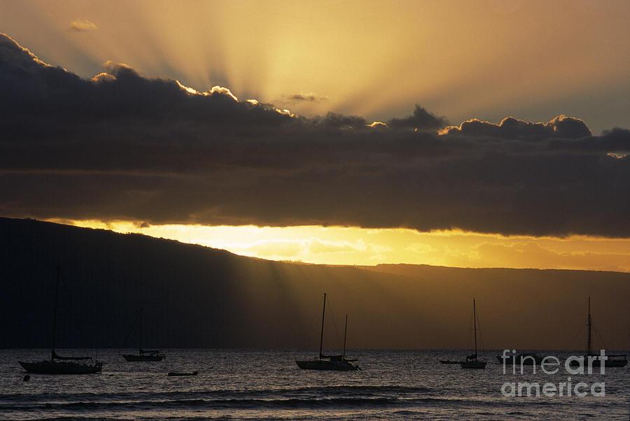 Lahaina Sunset - Maui Photograph