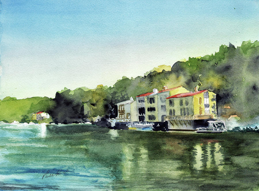 Watercolor Painting - Lake Ann Reston Va by Paul Temple