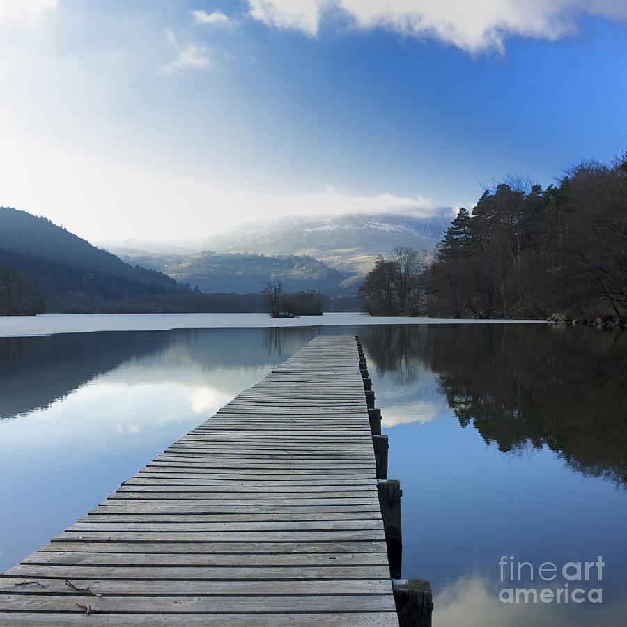 The Photograph - Lake Chambon. Auvergne. France by Bernard Jaubert