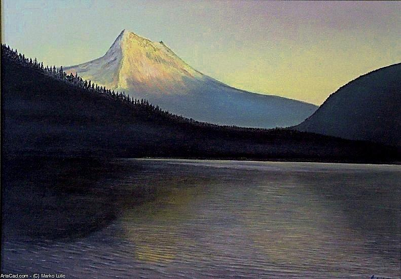 Lake Painting - Lake Front by Marko Lulic