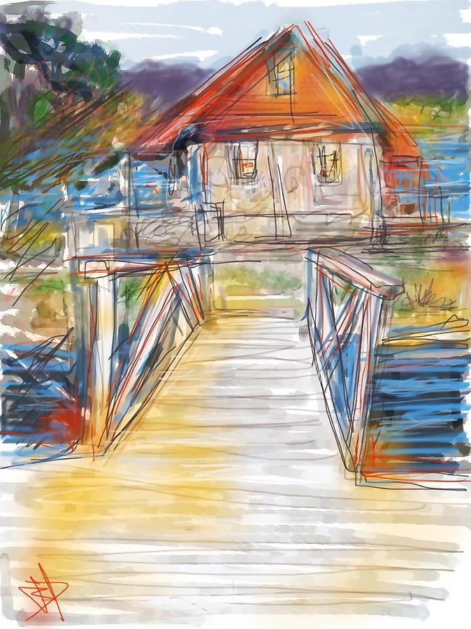 Lake House Digital Art by Russell Pierce