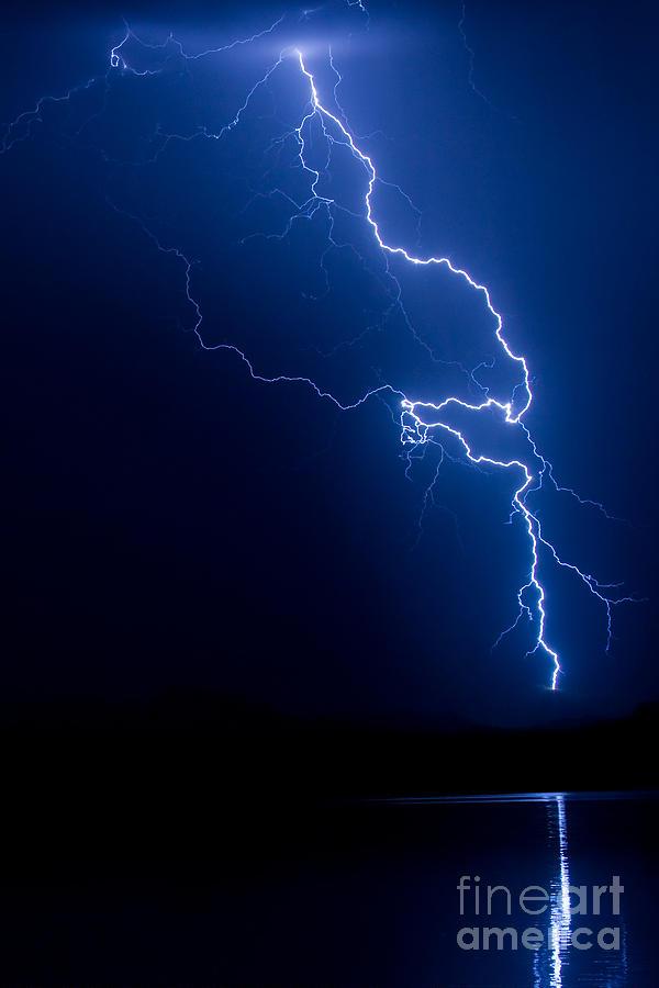 Lake Lightning Strike Photograph