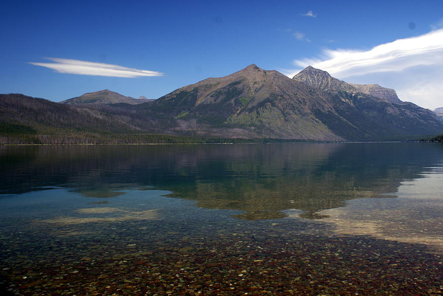 Landscape Photograph - Lake Mcdonald Reflection Glacier National Park 2 by Marty Koch