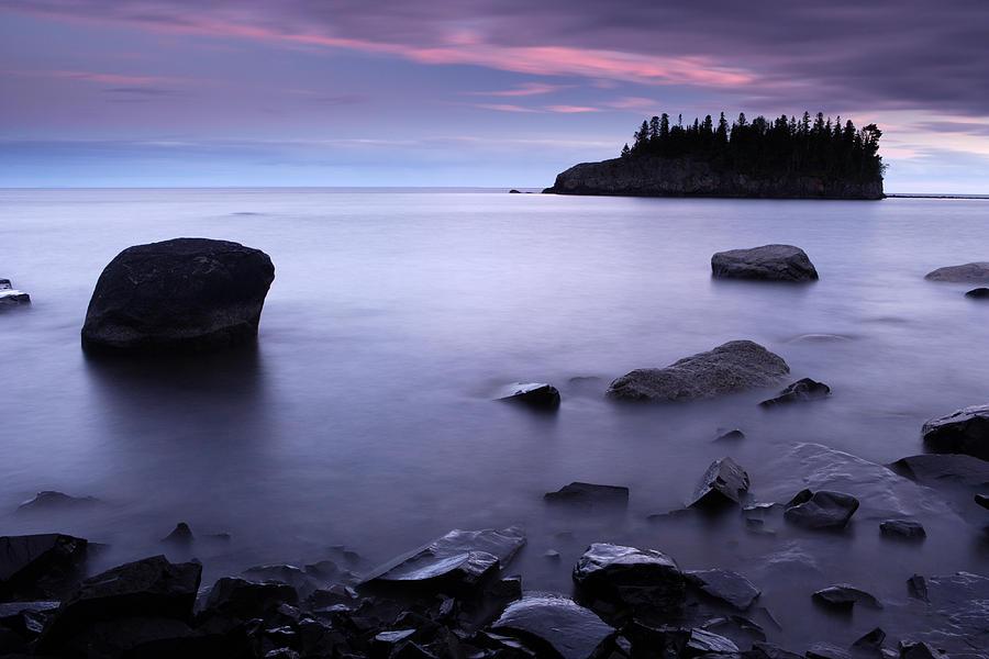 Minnesota Photograph - Lake Superior Twilight by Eric Foltz