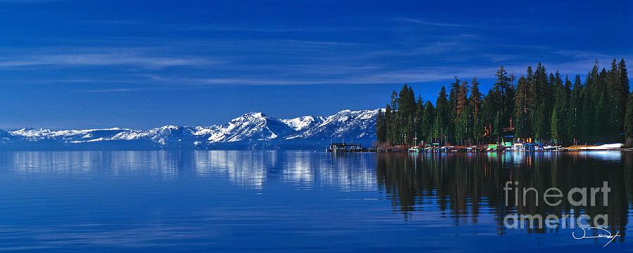 Lake Tahoe Photograph - Lake Tahoe Reflections by Vance Fox