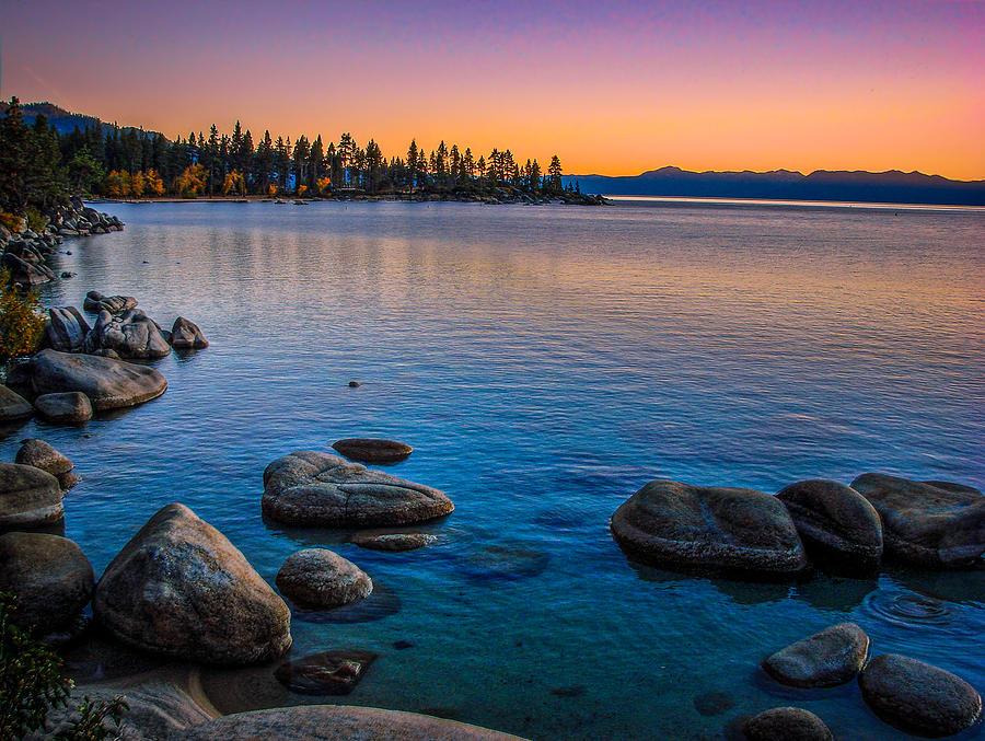 Lake Tahoe State Park Fall Sunset Photograph