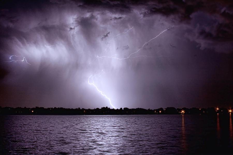 Lightning Photograph - Lake Thunderstorm by James BO  Insogna