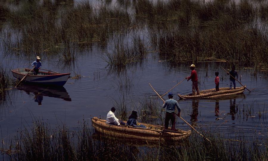 Lake Titicaca Reed Boats Photograph