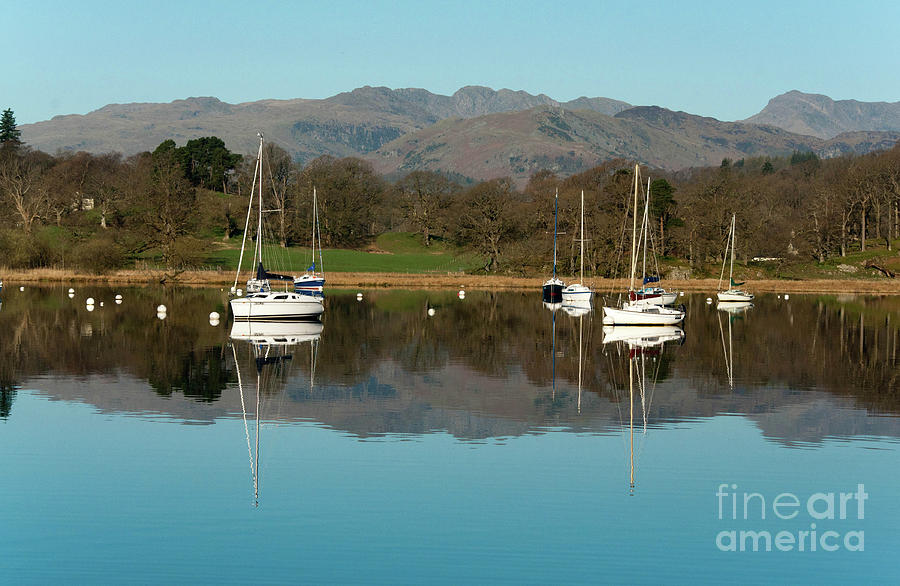 English Lake District Photograph - Lake Windermere Yachts by John D Hare