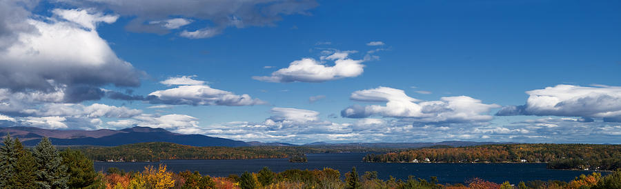 Lake Winnipesaukee Photograph - Lake Winnipesaukee New Hampshire In Autumn by Stephanie McDowell