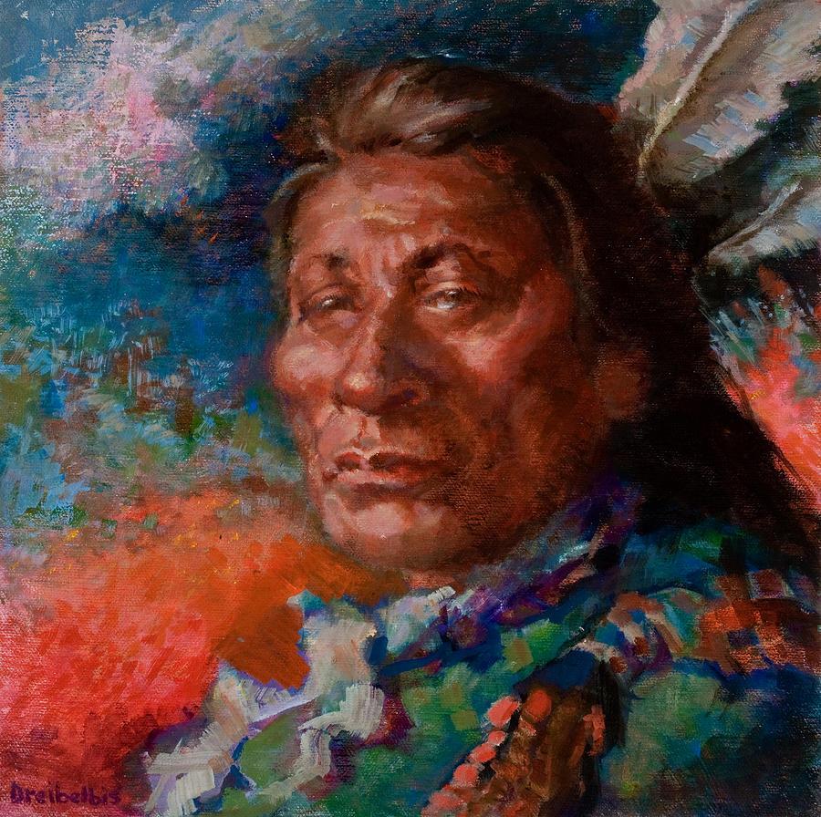 Painting - Lakota Man by Ellen Dreibelbis