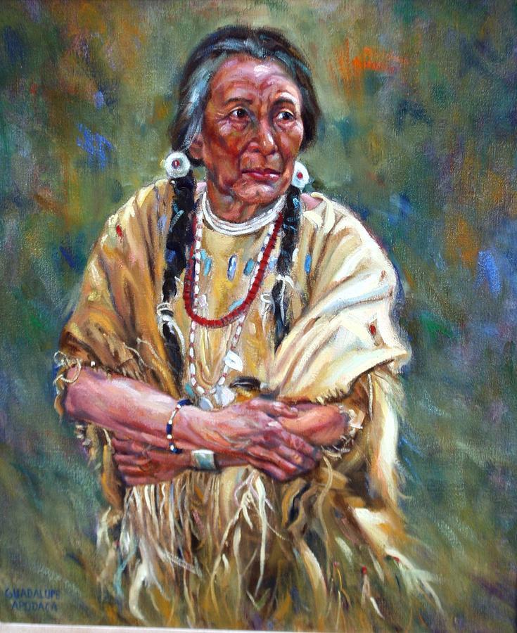 Native American Painting - Lakota Woman by Guadalupe Apodaca