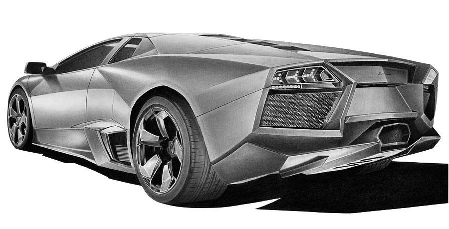 Lamborghini Reventon Drawing - Lamborghini Reventon by Lyle Brown