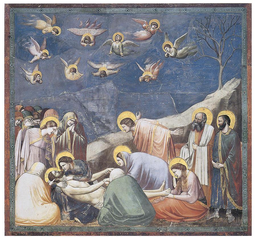 Giotto Di Bondone Painting - Lamentation by Giotto Di Bondone