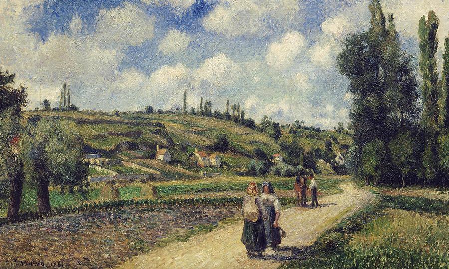 Landscape Near Pontoise Painting - Landscape Near Pontoise by Camille Pissarro