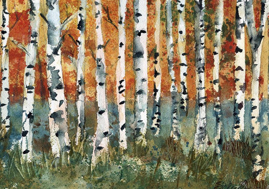 Acrylic Paintings Tall Trees