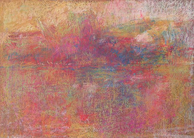 Surreal Framed Prints Pastel - Landscape Vii by Vladimir Frolov