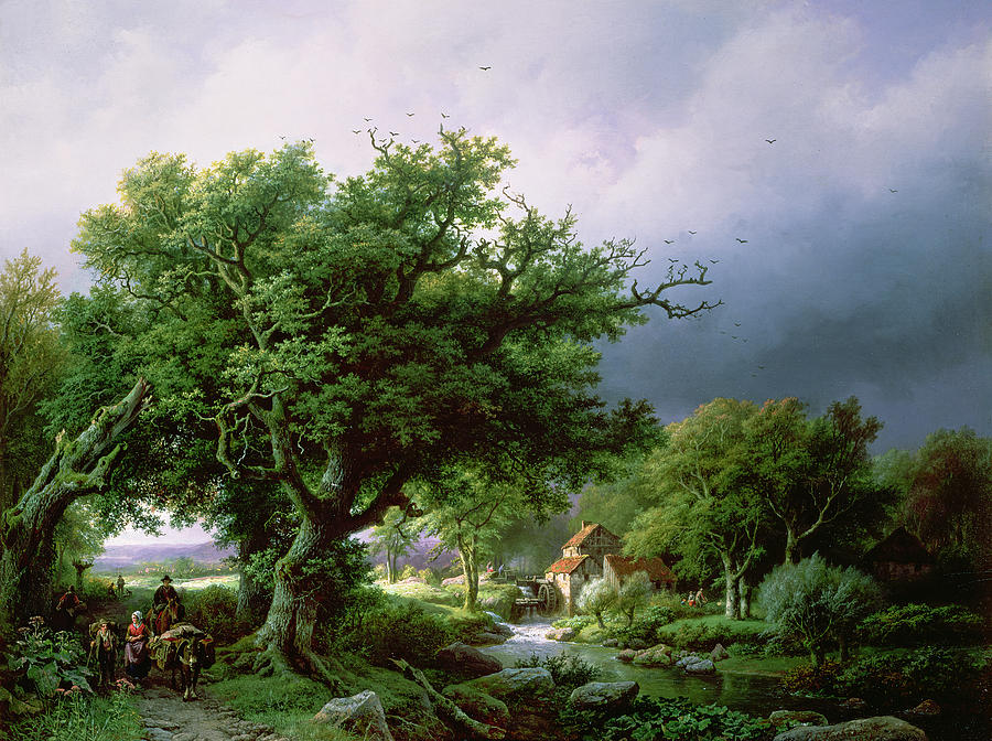Landscape With A Mill Painting