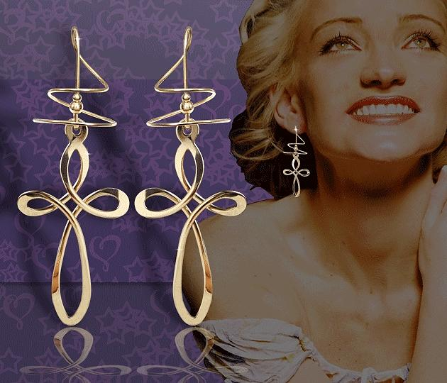 Cross Jewelry - Large Cross Earspirals by Harry Mason