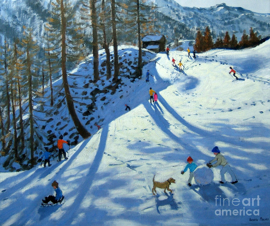 Large Snowball Zermatt Painting