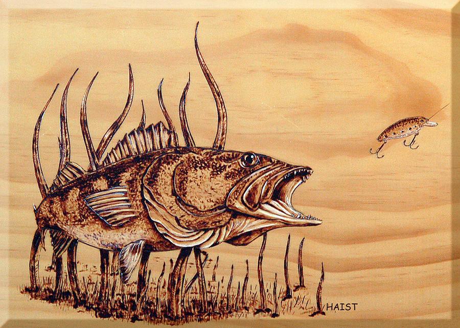 Largemouth Bass Pyrography By Ron Haist