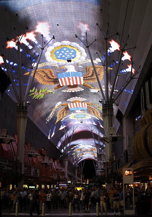 Las Vegas Street Light Show Photograph
