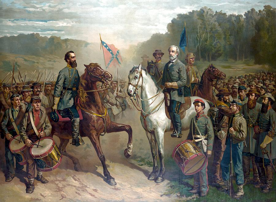 Robert E Lee Painting - Last Meeting Of Lee And Jackson by War Is Hell Store