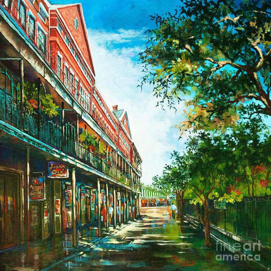 New Orleans Art Painting - Late Afternoon On The Square by Dianne Parks
