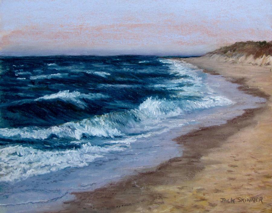 Ocean Painting - Late Spring At Cold Storage Beach by Jack Skinner
