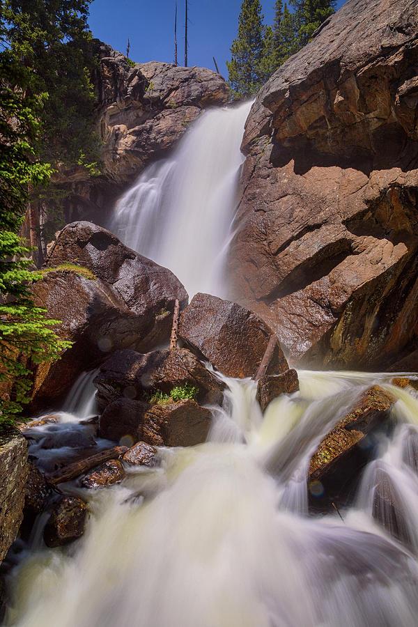 Late Spring Ouzel Falls Portrait Photograph