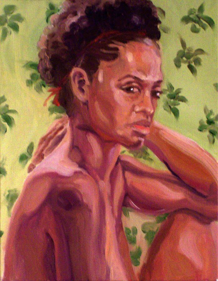 Portrait Painting - Latitha by Davida Schulman