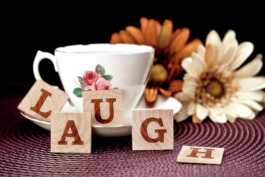 Teacup Photograph - Laugh by Tom Mc Nemar