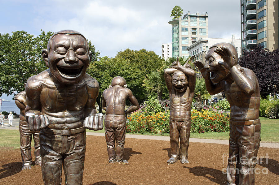 Laughing Men Sculptures Vancouver Canada Photograph By John Mitchell