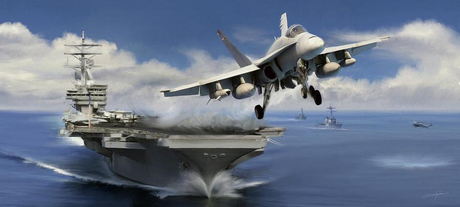 F-18 Digital Art - Launch by Dale Jackson