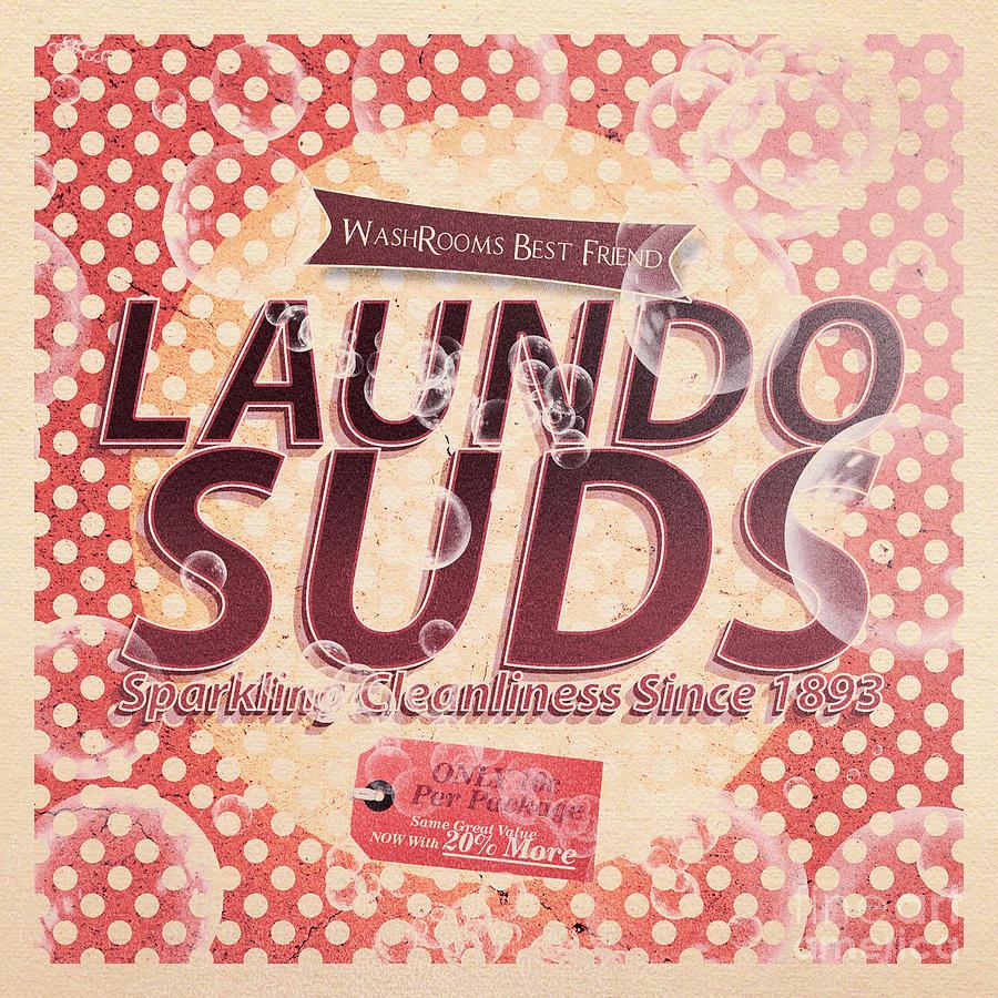 Laundo Soap Suds Advertising Digital Art