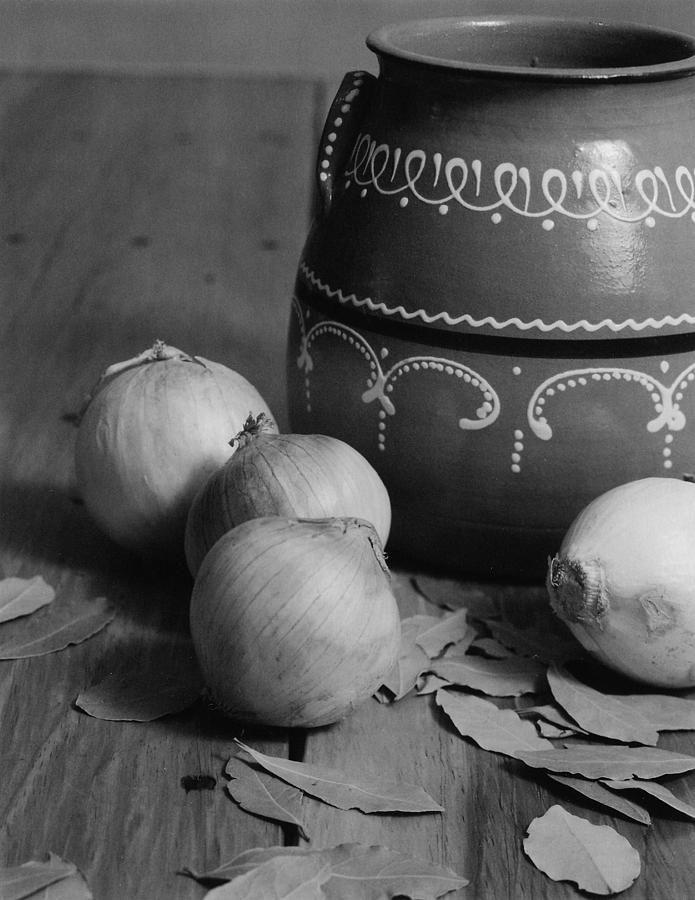 Cooking Photograph - Laurel And Onions by Henry Krauzyk