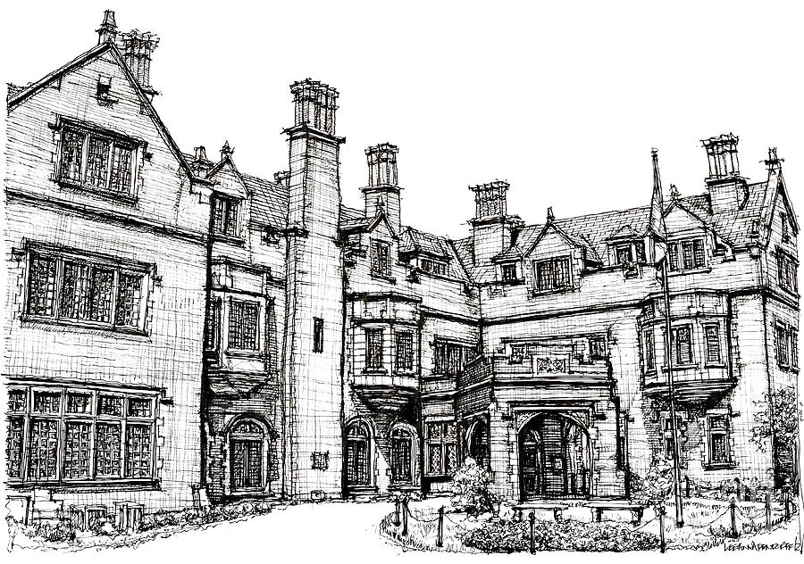 Laurel Hall In Indianapolis Drawing