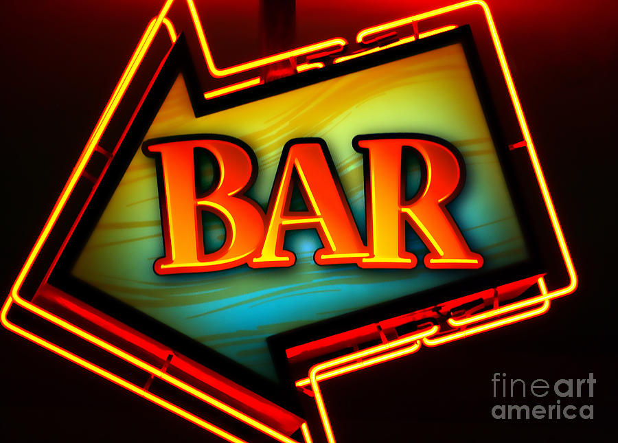 Bar Photograph - Laurettes Bar by Barbara Teller