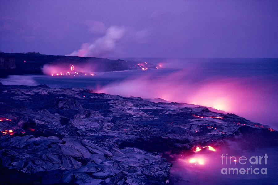 Amaze Photograph - Lava Flows To The Sea by Mary Van de Ven - Printscapes