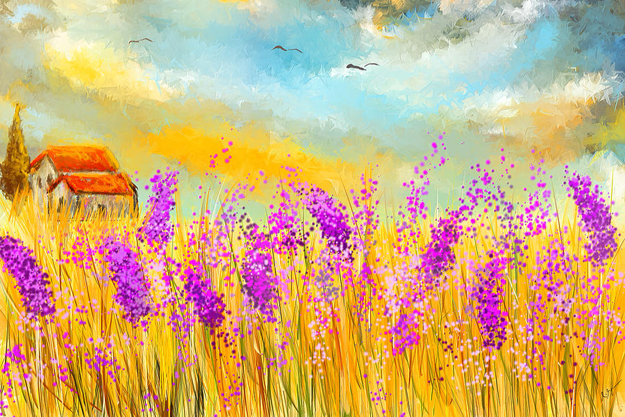 lavender painting - photo #41