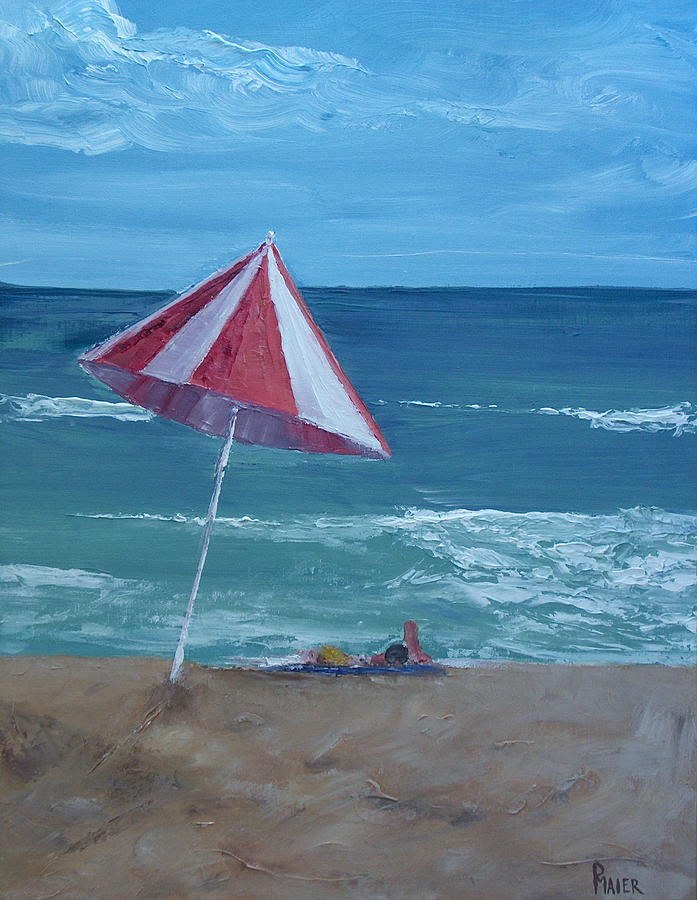 Seascape Painting - Layin Out by Pete Maier