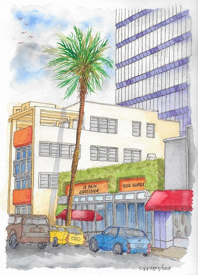Le Pain Quotidien In Beverly Hills, California Painting